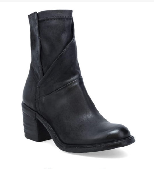 A.S.98 JARVIS NERO BLACK LEATHER ANKLE BOOTS