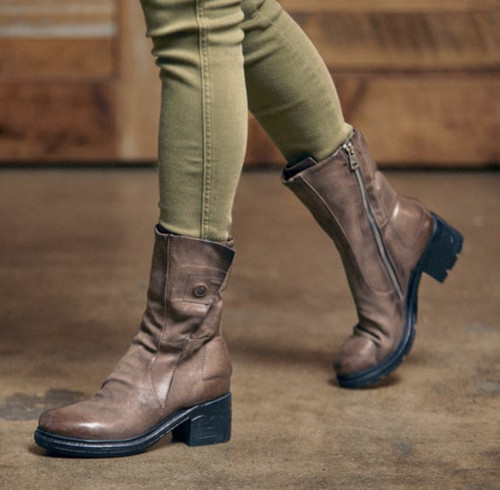A.S.98 NEACIE FANGO PADDED LEATHER ANKLE BOOT
