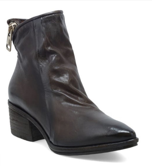A.S.98 PARSON FONDENTE BROWN LEATHER ANKLE BOOTIE