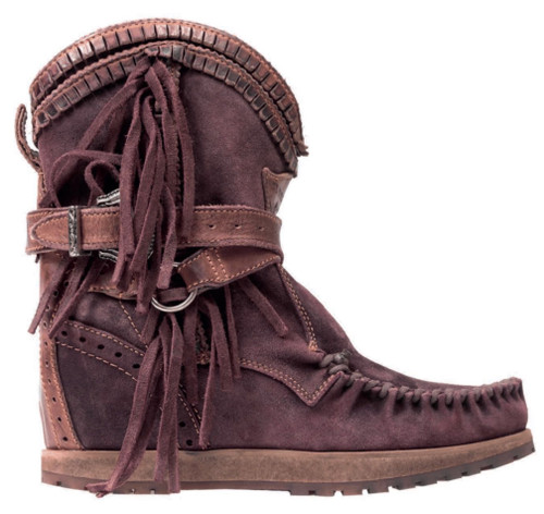 EL VAQUERO Arya Mocc  Worn-out  Bordeaux Wedge Moccasin Boots