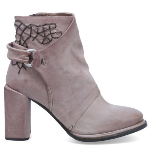 A.S.98 SWANSON GRUNGE HIGH HEEL LEATHER ANKLE BOOTS