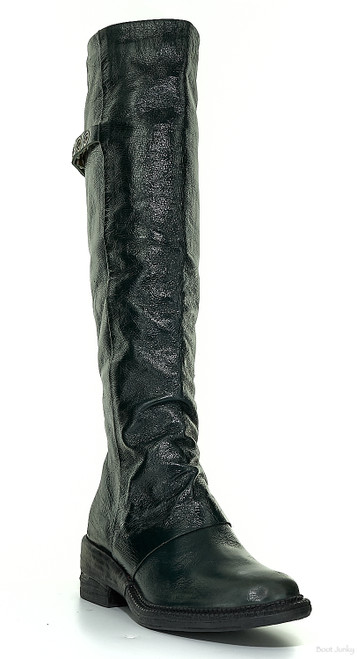 A.S.98 SANSON BALSAMIC GREEN KNEE HIGH LEATHER RIDING BOOTS