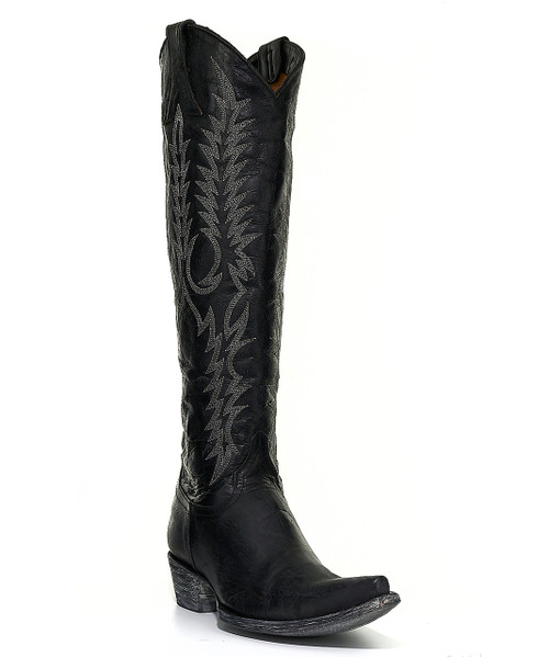 "L 601-2 Old Gringo Women's Mayra 18"" Boots Black (Snip Toe/9964 Walking Heel)"