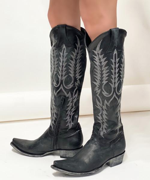 "L 601-2 Old Gringo Women's Mayra 18"" Boots Black (Snip Toe/9964 Walking Heel)"