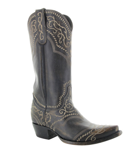 YL 161-8 Yippee Ki Yay by Old Gringo Ladies Sintra Rustic Beige Black Leather Boots