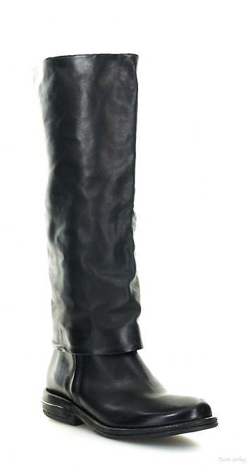A.S.98 TRENT NERO BLACK KNEE HIGH LEATHER BOOTS