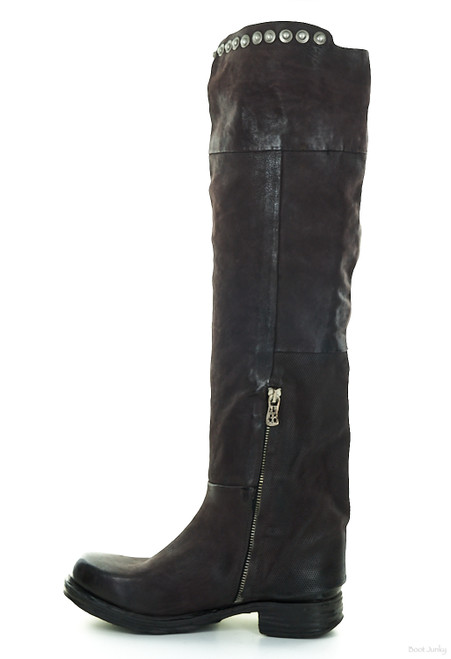 A.S.98 SLOANE LIZ WINE OVER THE KNEE LEATHER BOOTS