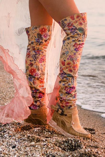 EL VAQUERO Regina Freedom Desert Over the Knee Leather Boots