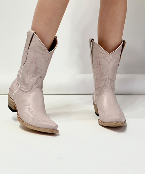 """L 051-2 OLD GRINGO VEGAS DUSTY ROSE EMBROIDERED 10"""" BOOTS"""