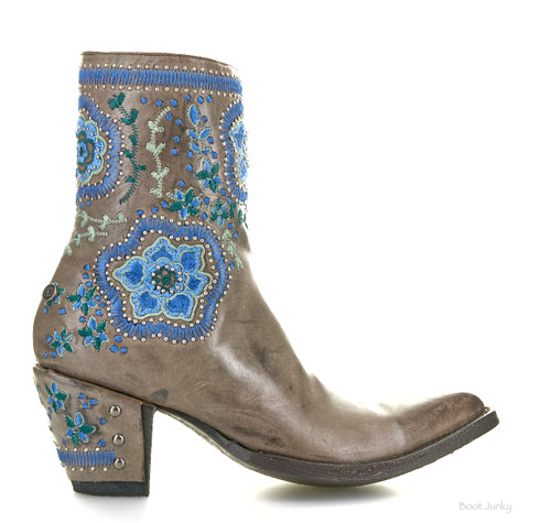"""DDBL049-2 DOUBLE D RANCH HELLISH DROUGHT 8"""" FURIA LEATHER ANKLE BOOTS"""