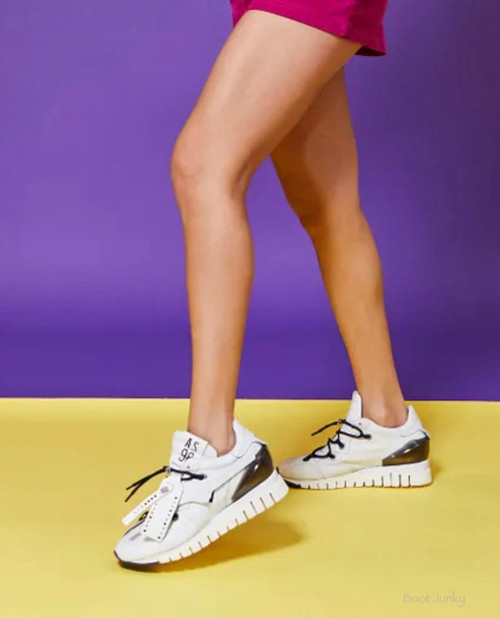 A.S.98 DOOGIE BIANC0 WHITE LEATHER LADIES SNEAKER