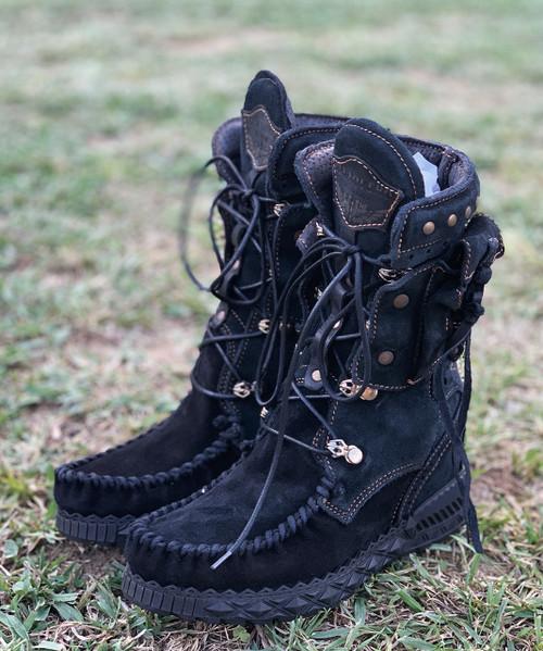 EL VAQUERO Nikila Silverstone Nero Black Mocc Boots