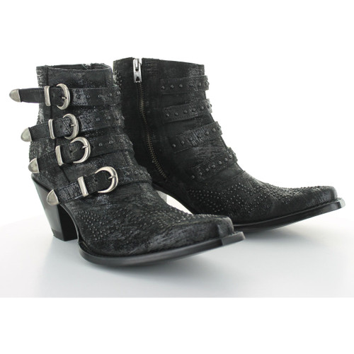 """BL2794-9 OLD GRINGO ROXY 5"""" BLACK LEATHER ANKLE BOOTS"""