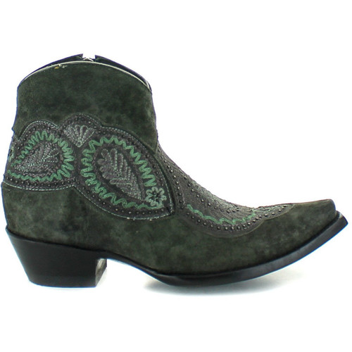 """BL2978-6 OLD GRINGO BIANCA 5"""" BLACK LEATHER ANKLE BOOTS"""