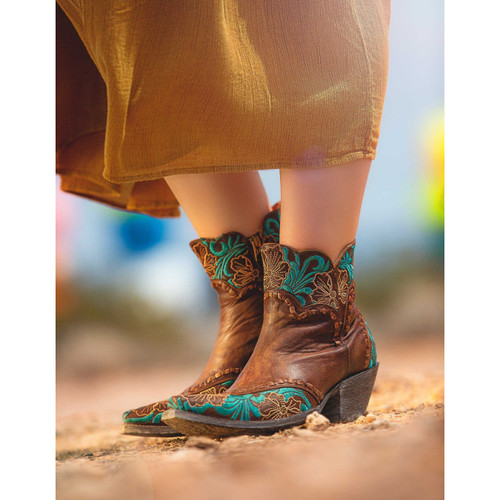"""BL3084-1 OLD GRINGO ERIN 6"""" VES BRASS LEATHER ANKLE BOOTS"""