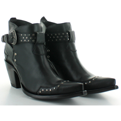 """BL3126-1 OLD GRINGO KYKIE 4"""" BLACK LEATHER ANKLE BOOTS"""