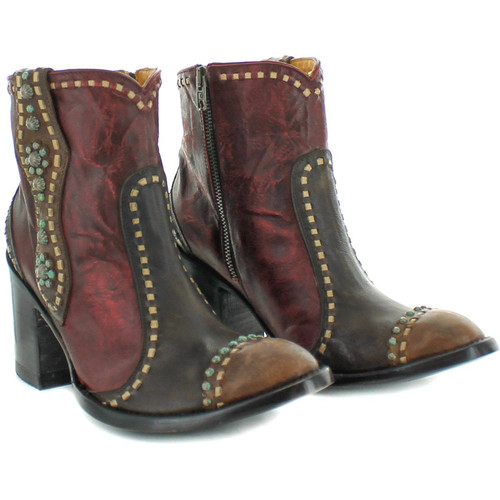 """BL3194-1 OLD GRINGO CHERYL SHORT 7"""" CHOCOLATE LEATHER ANKLE BOOTS"""
