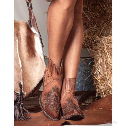 """BL3299-1 OLD GRINGO DUNKEN 6"""" BRASS LEATHER ANKLE BOOTS"""