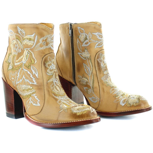 """BL3317-1 OLD GRINGO MAYFLOWER 6"""" STRAW LEATHER ANKLE BOOTS"""