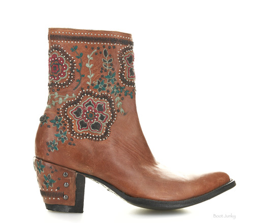 """DDBL049-1 DOUBLE D RANCH HELLISH DROUGHT 8"""" TAN LEATHER ANKLE BOOTS"""