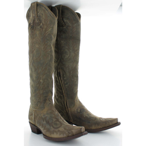 """L2942-2 OLD GRINGO MAYRA 18"""" BROWN LEATHER BOOTS"""