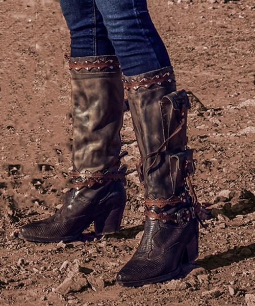 EL VAQUERO Gelding Rider Mud Leather Boots