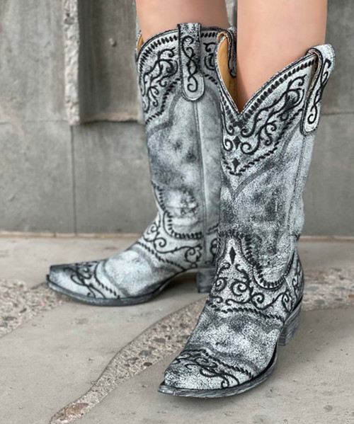 """YL 161-11 YIPPEE KI YAY BY OLD GRINGO LADIES SINTRA 13"""" BLACK LEATHER BOOTS"""