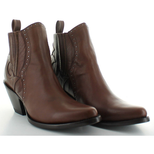 """BL3123-4 OLD GRINGO BRINA 5"""" BROWN LEATHER ANKLE BOOTS"""