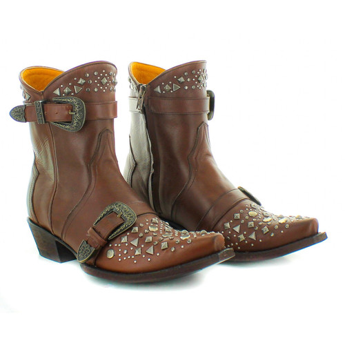 """BL3203-1 OLD GRINGO JULIANNA 6"""" CHOCOLATE LEATHER ANKLE BOOTS"""