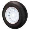 ST205/75R14 Freestar Trailer Tire LRC on 5 Bolt White Mod Wheel