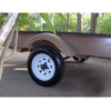 4.80X12 Loadstar Trailer Tire LRC on 4 Bolt White Spoke Wheel