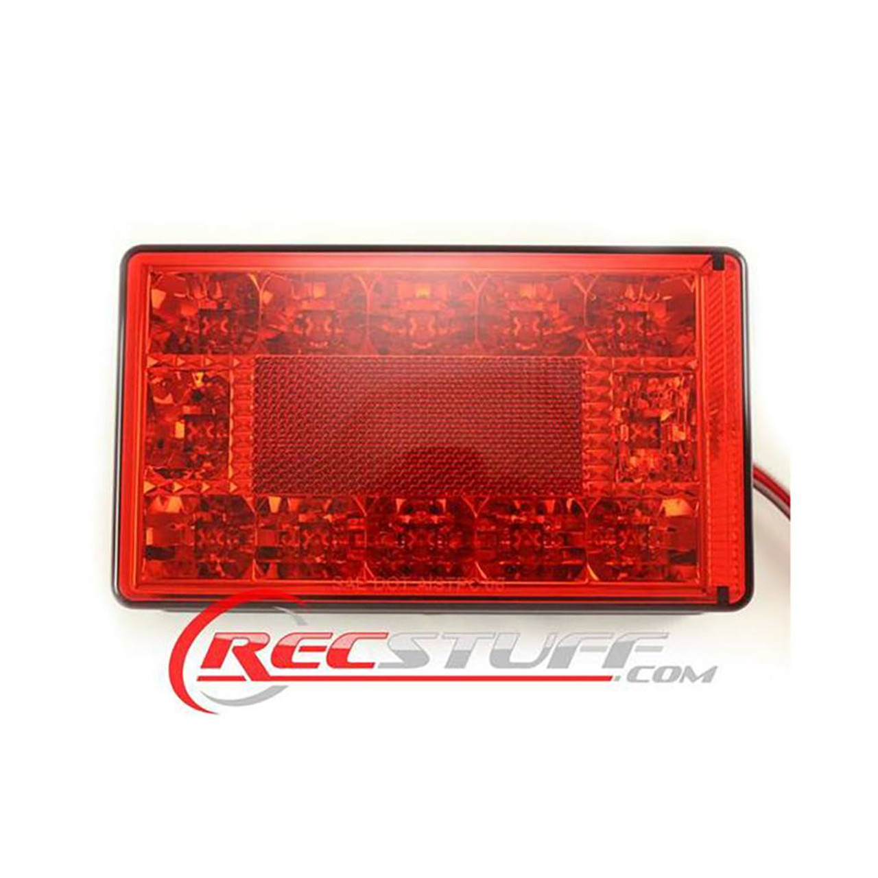 "Submersible LED Tail Light / Turn Signal Right Hand Under 80"" Light With Ground Wire"