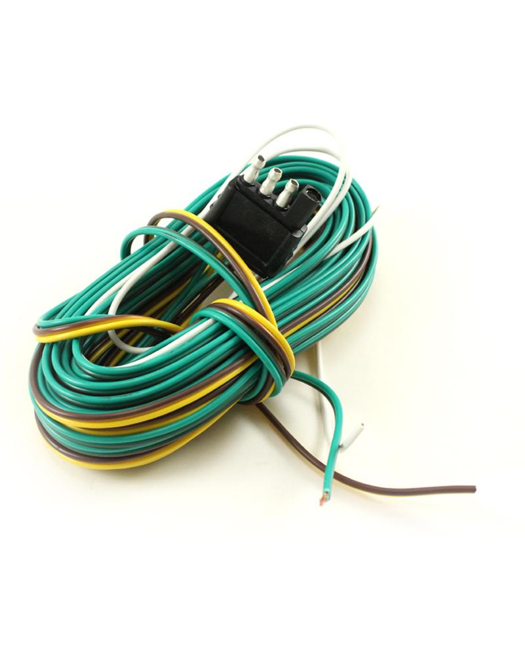 """4-Way Trailer Connector With 26' Lead Wire & 38"""" Ground Wire"""