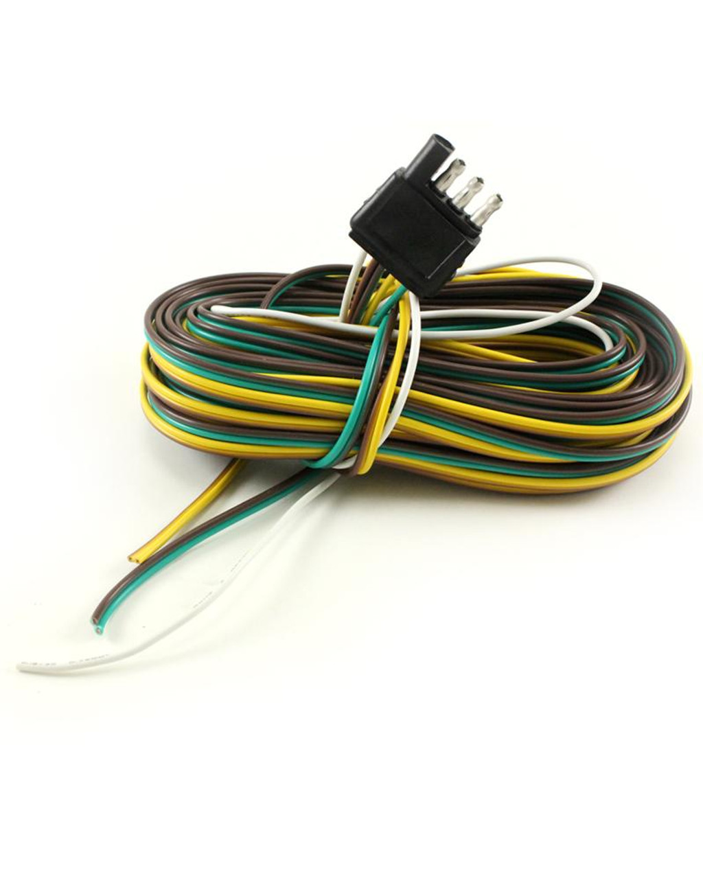 """4-Way Trailer Connector With 31' Lead Wire & 38"""" Ground Wire"""