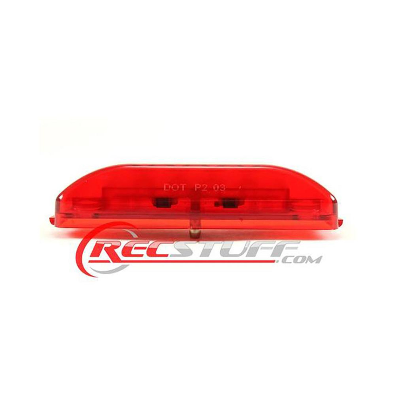 Large Red LED Clearance Light - Snap Lock