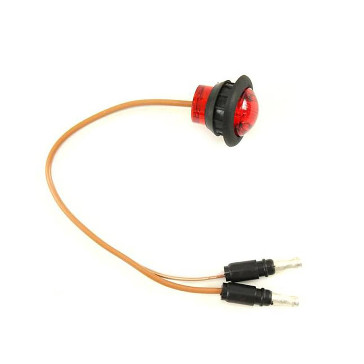 "1"" Round Red Trailer LED Clearance Lights"