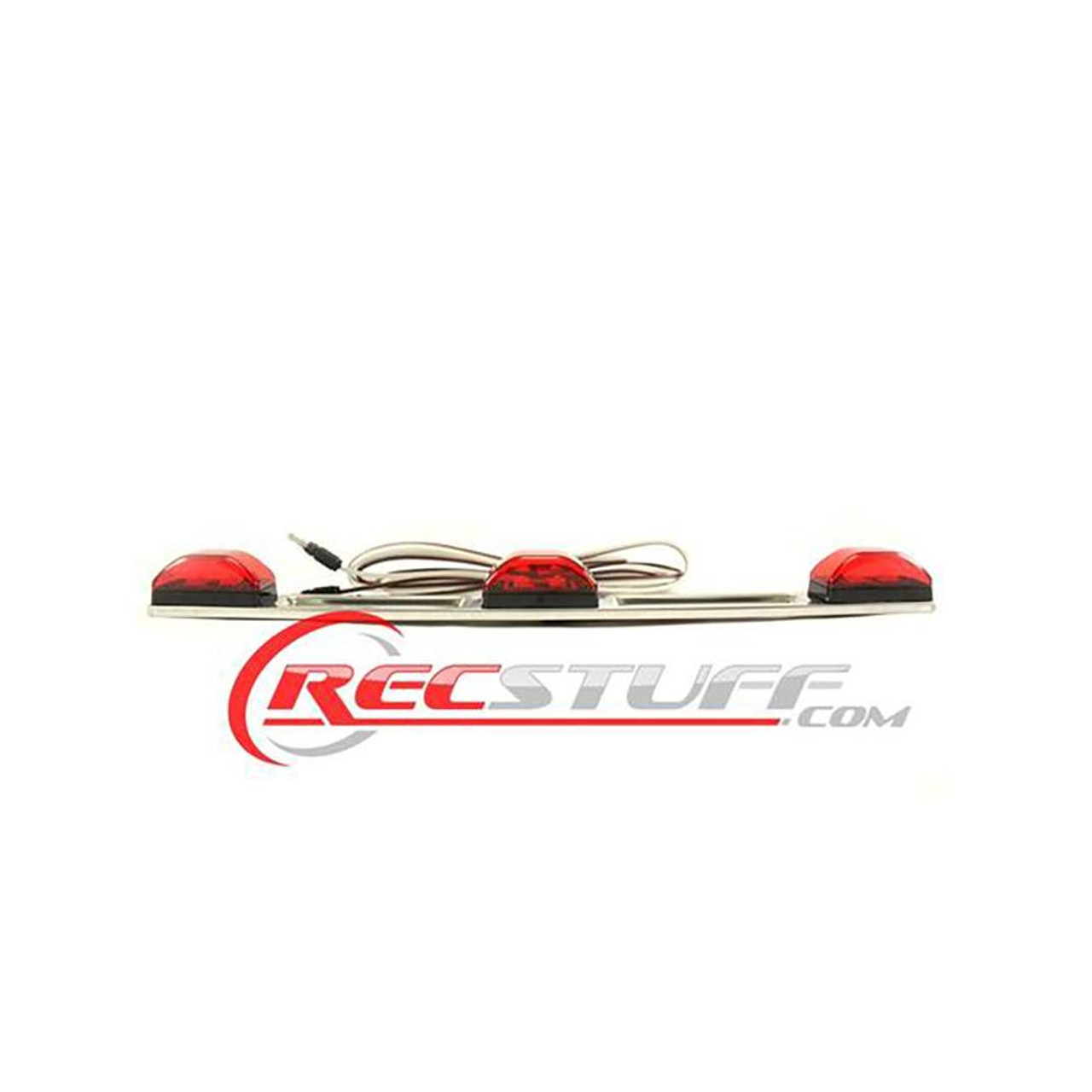 """Stainless Steel I.D LED Light Bar With 74"""" Lead and Plug - Trailer Tail Light"""