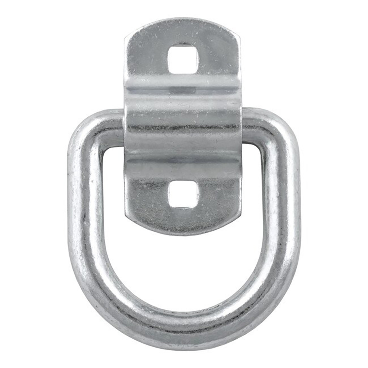 """Forged 1/2"""" D-Ring with Bracket- 11,000 lbs Capacity- 2-1/2"""" x 2-3/8"""" ID- White Zinc Finish-"""
