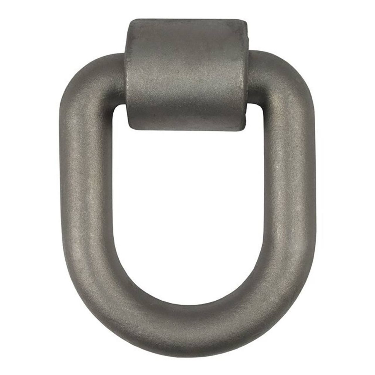 Forged D-Ring/Brackets- Bulk- Raw Finish- 46760lbs. Capacity- 1/5/6 in.- w/Weld-On 2 in. Wide X 3/8 in. Thick Brackets-
