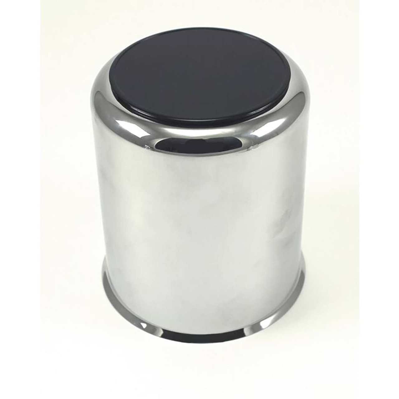 "3.75"" Plastic Chrome Center Cap with Black Plug CCS036"