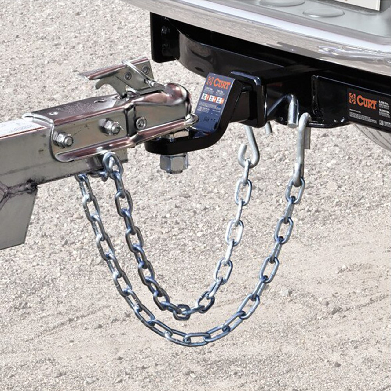 Safety Chain Assembly- 2000lbs. Minimum Break Force- 30 Grade- Incl. 3/16 in. X 24 in. Chain- (1) 3/8 in. S-Hook[J-26]