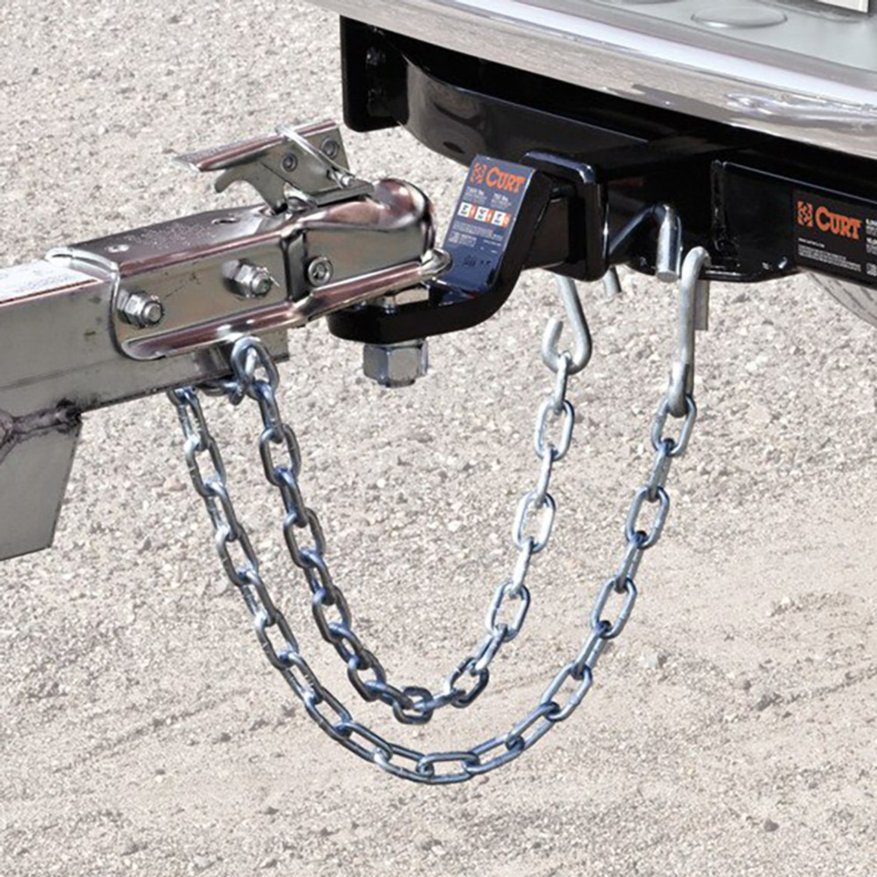 Safety Chain Assembly- 7000lbs. Minimum Break Force- 30 Grade- Incl. 8/0 X 23 in. Chain- (1) 17/32 in. S-Hook[J-62]-