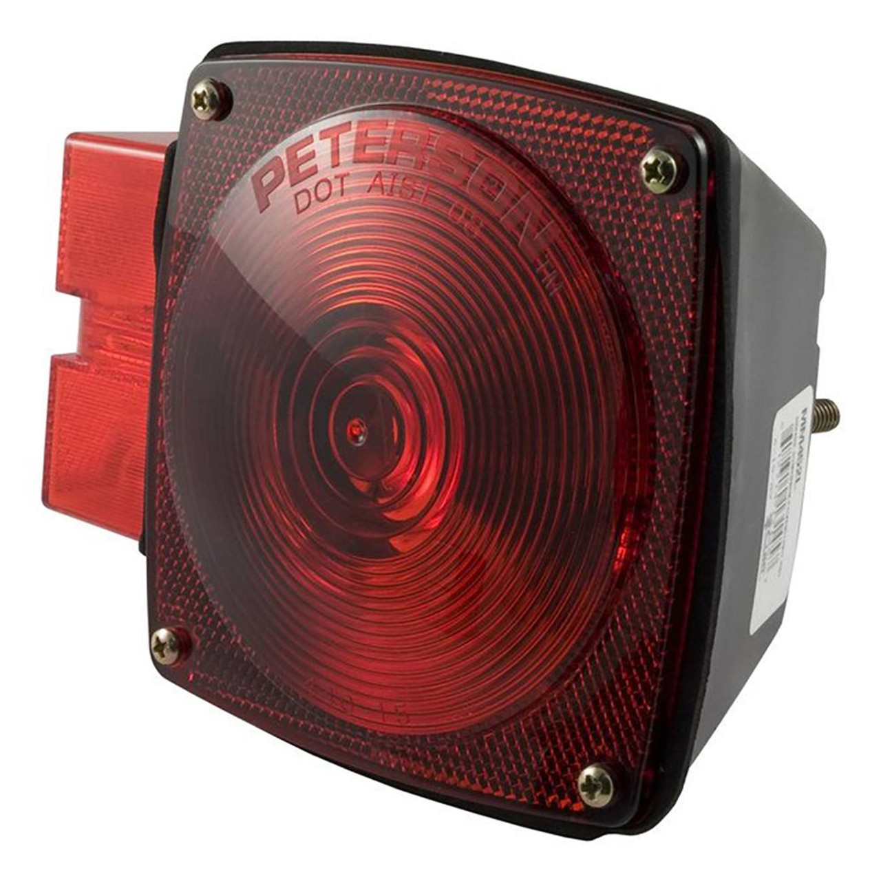 Submersible Combination Light- Red- Left Side- w/License Plate Illuminator-