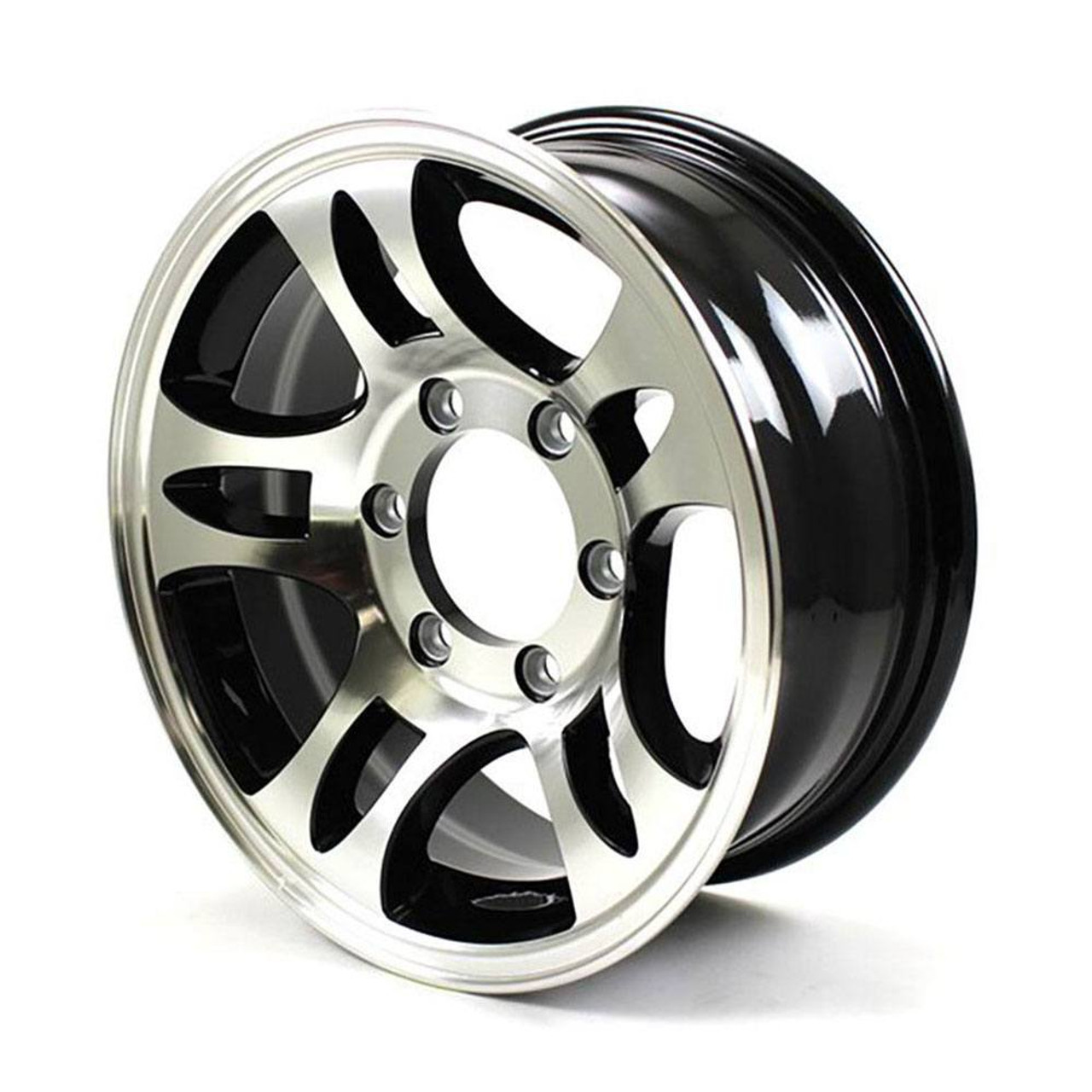 "16X6.5 6-Lug on 5.5"" Aluminum S5 Trailer Wheel - S567655B"