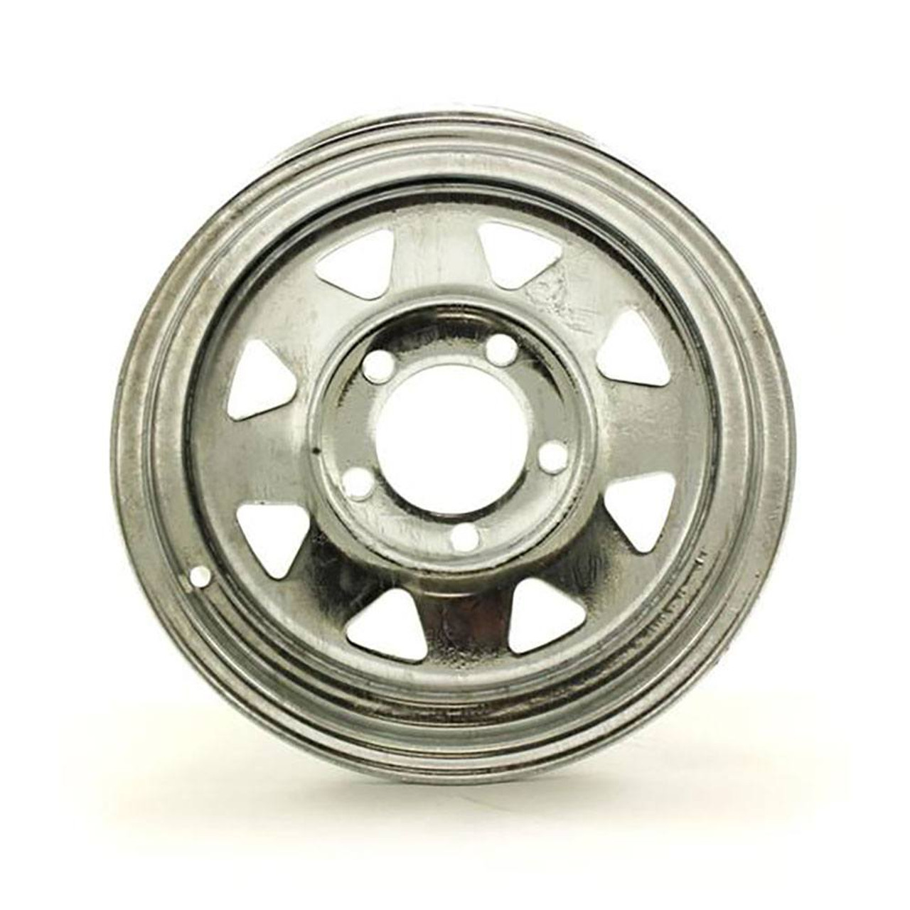 "13X4.5 5-Lug on 4.5"" Galvanized Spoke Trailer Wheel"