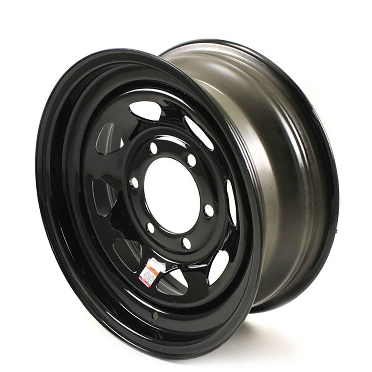 "16x6 6-Lug on 5.5"" Black Spoke Trailer Wheel"