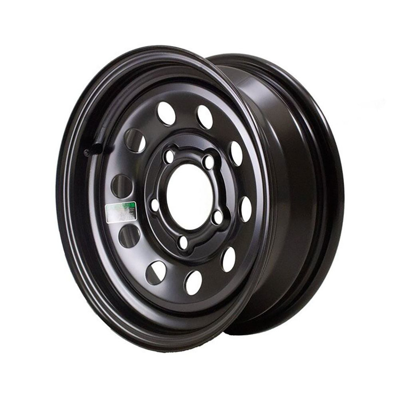 "13X4.5 5-Lug on 4.5"" Black Mod Trailer Wheel"
