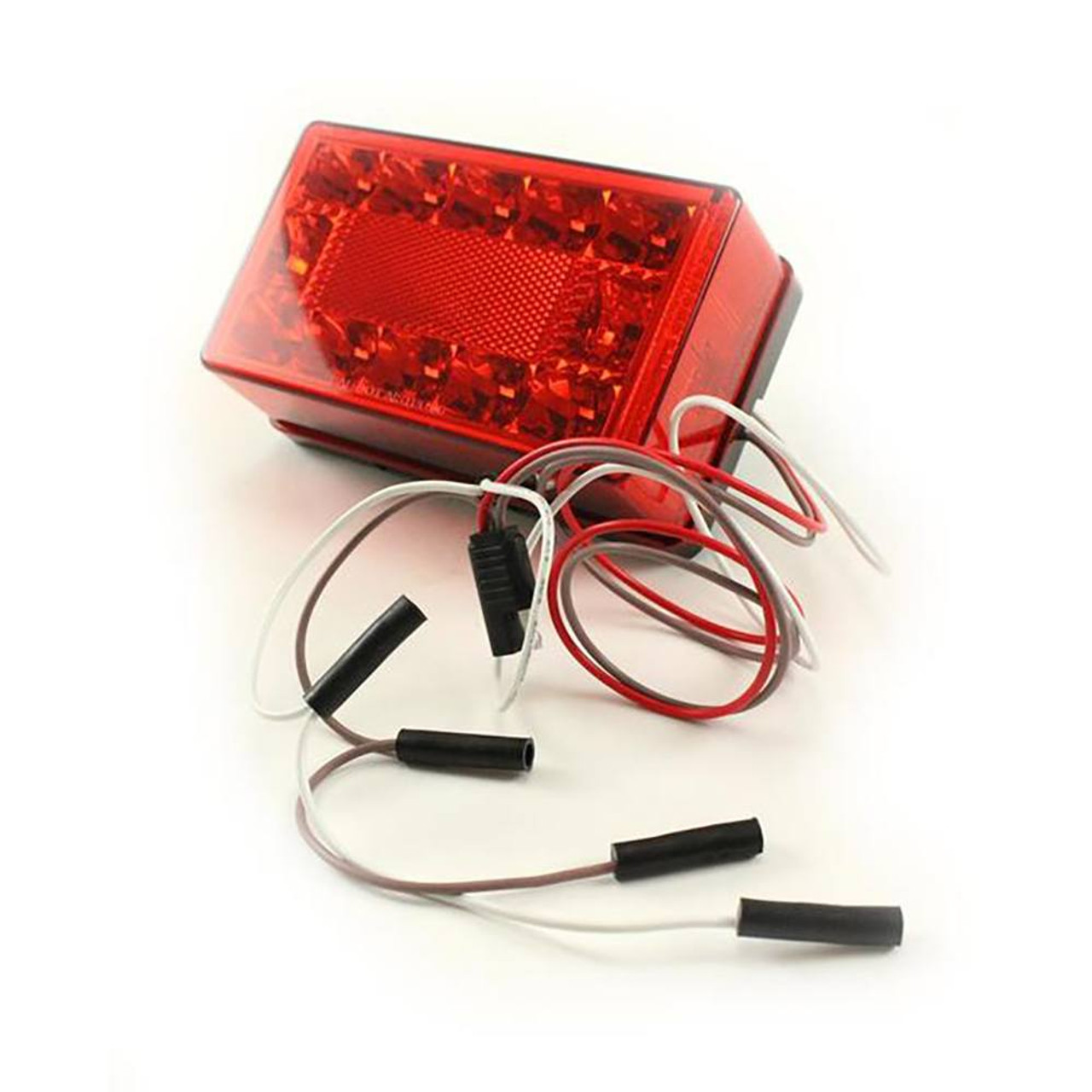 """Submersible LED Tail Light / Turn Signal Right Hand Over 80"""" Light With Ground Wire"""