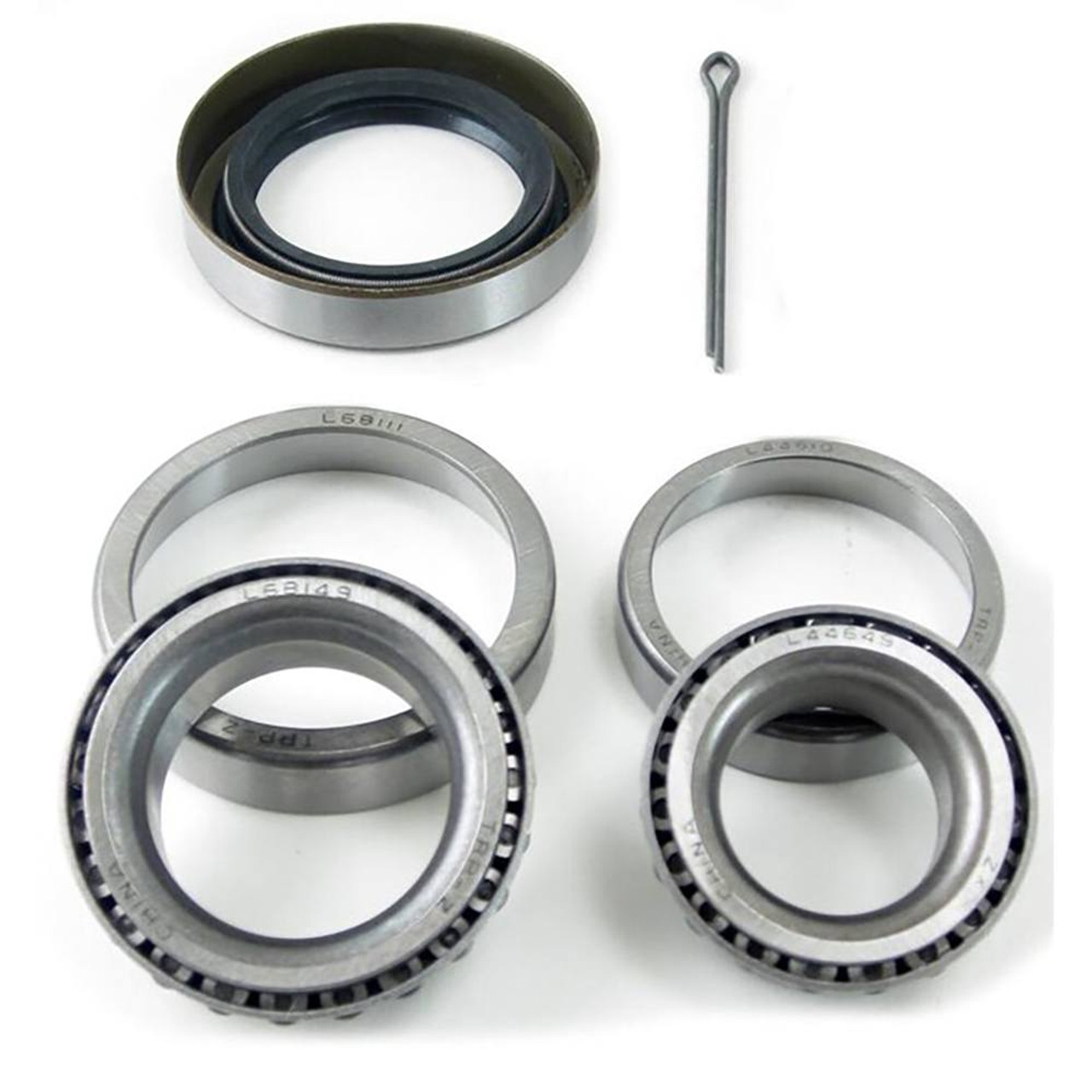 Bearing Kit: L44649 and L68149 Bearings with L44610 and L68111 Races - Seal and Pins included