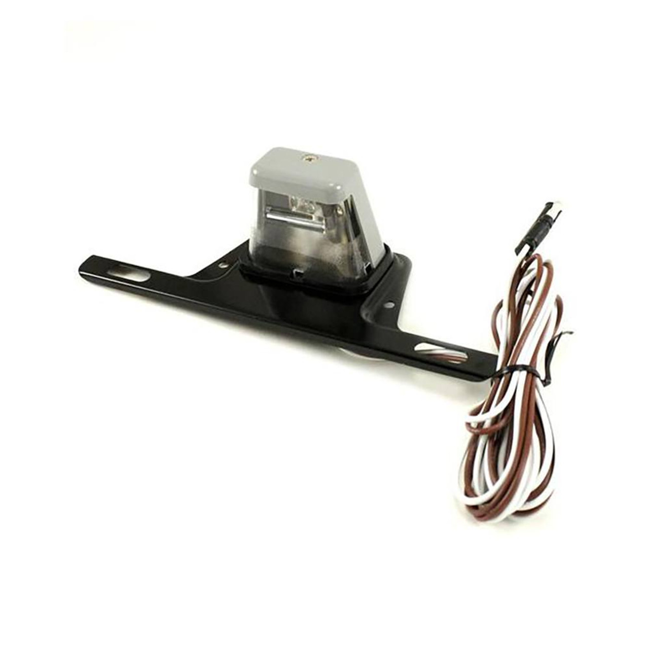 Trailer License Plate Bracket with Light and Plug